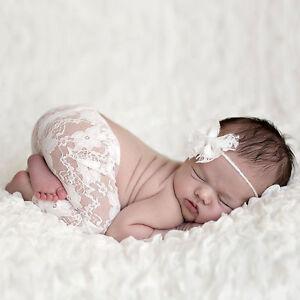 NEU  2 Tlg Set Baby Fotoshooting Neugeborene Spitzenhose