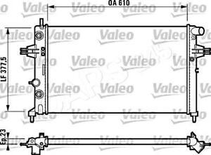 VALEO Engine Cooling Radiator Fits OPEL Astra Zafira Wagon