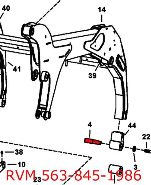 Bobcat 7160425 Tapered Bushing 7101078 Pin Loader Arm