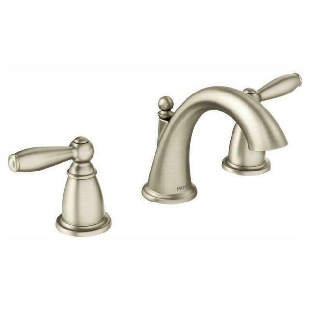 moen t6620bn brantford brushed nickel two handle bathroom faucet