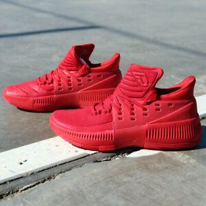 adidas Dame 3 BB8337 Lillard Roots Red Basketball Shoes Portlands Blazers NEW DS   eBay