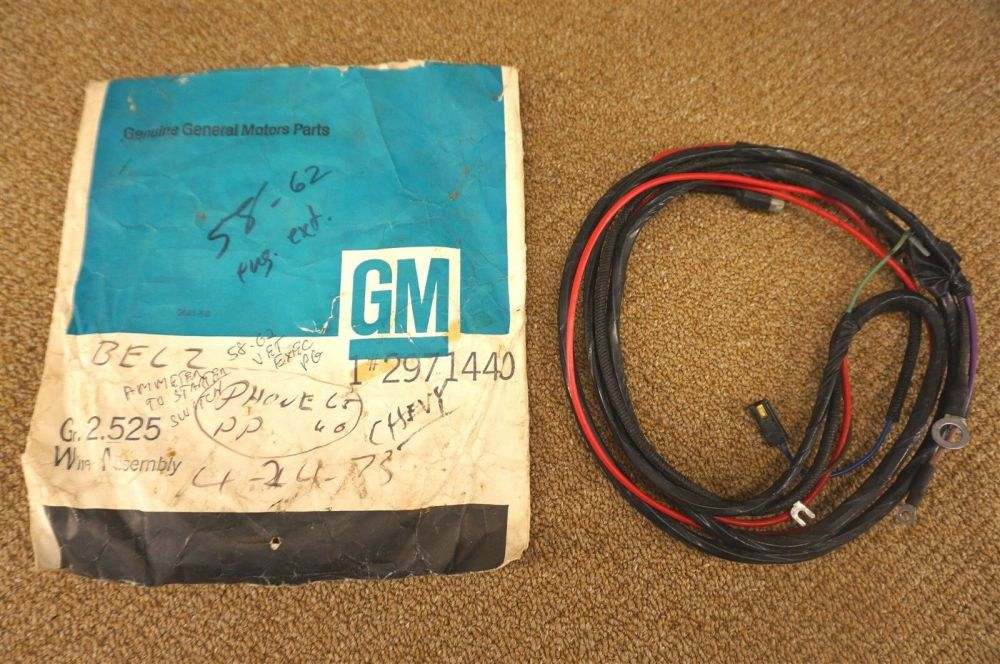 medium resolution of nos gm wire harness starter ignition switch key 2971440 1958 1962 general motors starter wiring