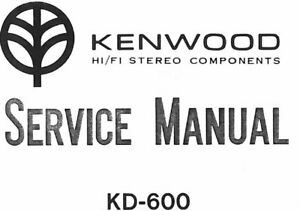 KENWOOD KD-600 KD-650 SERVICE MANUAL BOOK ENGLISH QUARTZ