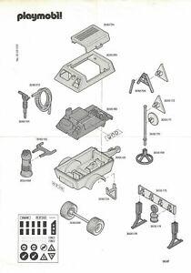 Playmobil Manual de Instrucciones 3745 Kompressoranhänger