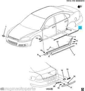 New OEM 2006-2013 Chevrolet Impala Left Rear Side Door