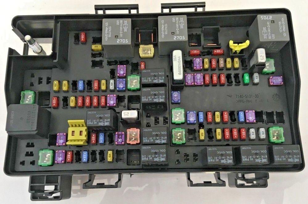 medium resolution of 2015 dodge ram 1500 power distribution center fuse box 68243257ab for sale online
