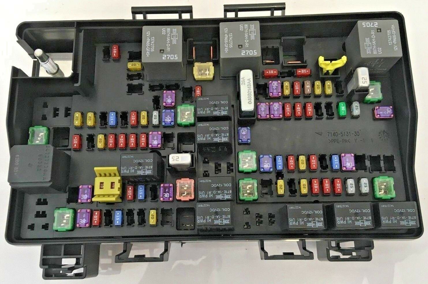 hight resolution of 2015 dodge ram 1500 power distribution center fuse box 68243257ab for sale online