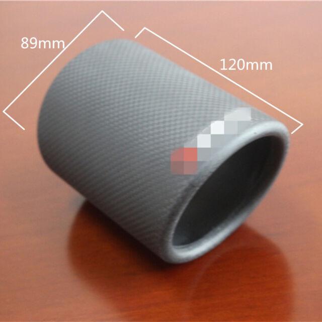 3 5 carbon fiber car exhaust tip cover muffler pipe decoration case matte black