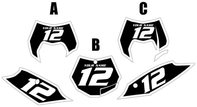 Fits KTM 250-350 SX-F 2011-2012 Black Backgrounds with