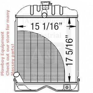 181623M1 RADIATOR for Massey Ferguson TE20 TEA20 TO20 TO30