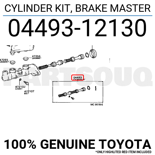 0449312130 Genuine Toyota CYLINDER KIT, BRAKE MASTER 04493