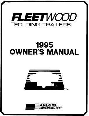 COLEMAN Popup Trailer Owners Manual-1995 Destiny Cedar XL