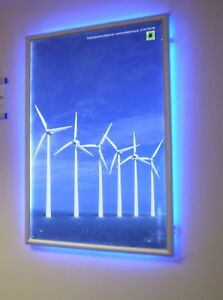 details about a4 colour change poster frame snapframe illuminated poster display led