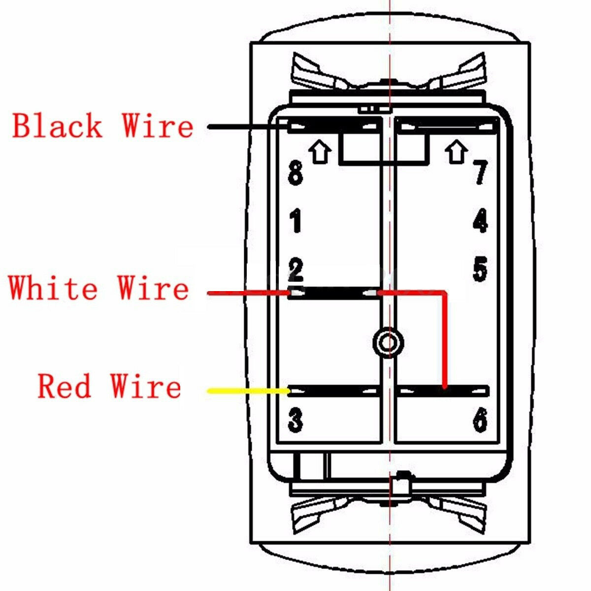 hight resolution of rocker waterproof switch 2lead illuminated led light bar relay rh ebay com led tail light wiring diagram led light bar wiring diagram two