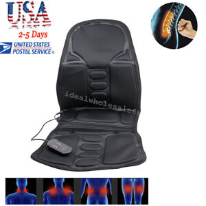 back massage chairs for sale exercise ball office chair reviews heated cushion massager car seat pad pain image is loading
