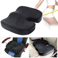 Office Chair Seat Covers Black Reclining Rocking Nursery Coccyx Orthopedic Memory Foam Auto Car Image Is Loading