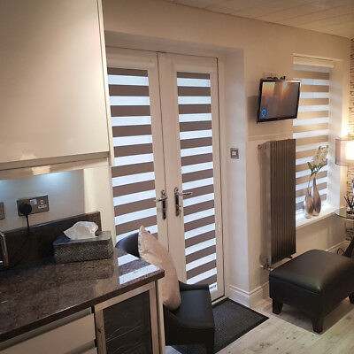 day night perfectly fit blinds made to measure french patio doors only ebay