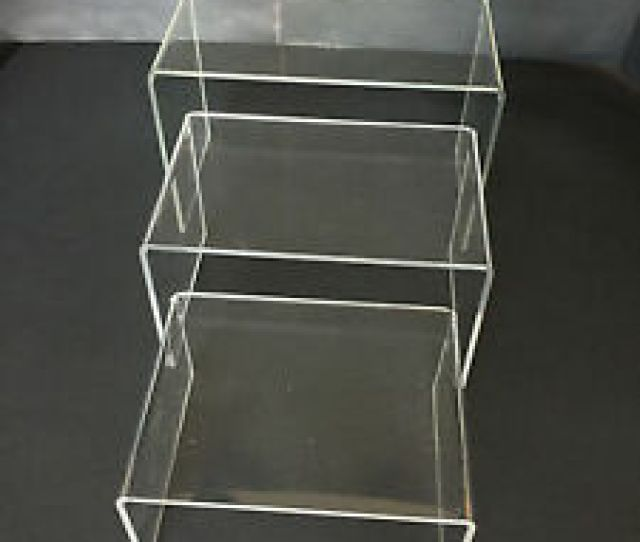 Image Is Loading  Pack Acrylic Plastic Clear Riser Display Stand