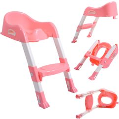 Stool Chair For Toilet With Headrest New Kid Training Potty Trainer Seat Toddler W