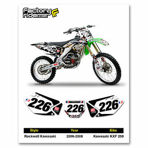 2006-2008 KAWASAKI KXF 250 Rockwell Dirt Bike Graphics