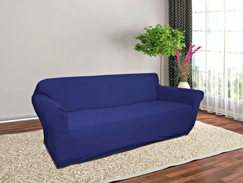 jersey navy blue slipcover stretch couch loveseat sofa recliner cover protector