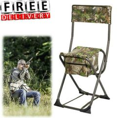 Portable Hunting Chair Cover Rentals Dove Folding Travel Seat Steel Stool Hunter Image Is Loading