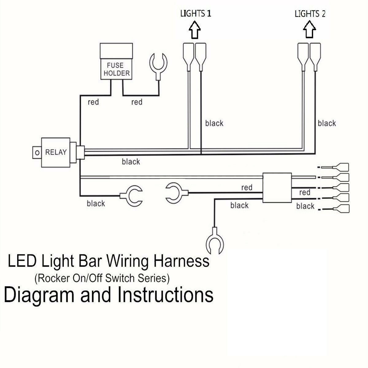 5 pin relay wiring diagram spotlights electronics mini projects with circuit 12v led work light bar harness kit loom control 2 norton secured powered by verisign