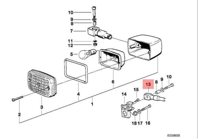 Genuine BMW 47E2 Turn Corner Light Holder OEM 63232315655