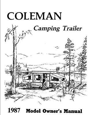 COLEMAN Popup Trailer Owners Manual-1987 Columbia Laramie