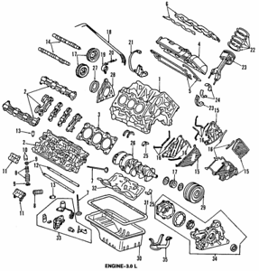 Genuine OEM Honda Timing Belt & Water Pump Kit Set for