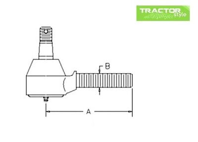 67121-56520 LH Thread Tractor Tie Rod Outer Kubota B1550