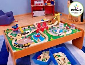 thomas the train table and chairs bedroom chair pepperfry wooden compatibles set kids 100 pieces toys image is loading