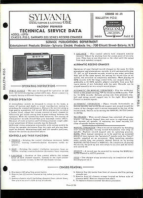 Rare Original Factory Sylvania 45P84 Turntable Record