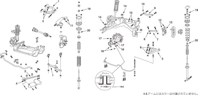 NISMO Diff Mount Bush Kit For Skyline GT-R (BNR34