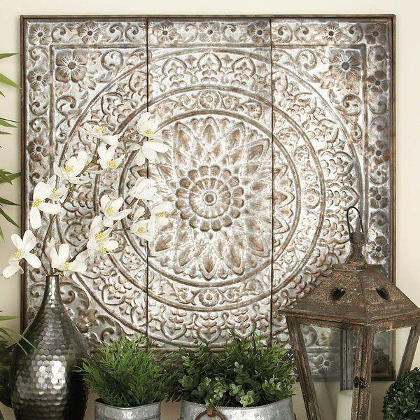 large metal framed tin ceiling tile