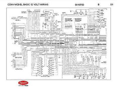 peterbilt 348 conventional models basic 12 volt wiring diagram schematic   ebay