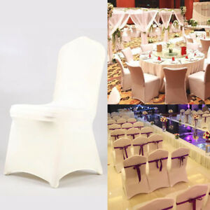 wedding chair covers for whale spa pedicure ivory lycra spandex stretch banquet reception image is loading