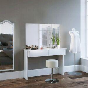 Usato, toletta camera da letto. Tavolo Toletta Da Trucco Cosmetici Moderna Con 2 Cassetti Bianca Vari Modelli Ebay