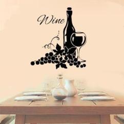 Vineyard Kitchen Decor Designer Wine With Grapes Vinyl Wall Decal Sticker Details About Cute Decoration