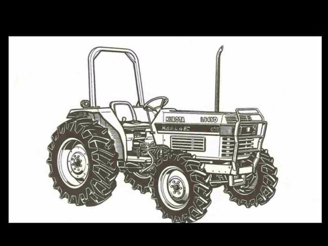 KUBOTA L4350 L4850 L5450 L 4350 5450 MANUAL for Diesel