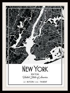 New York City Map Poster : poster, POSTER, PRINT, MODERN, CONTEMPORARY, CITIES, TRAVEL, FRAMES