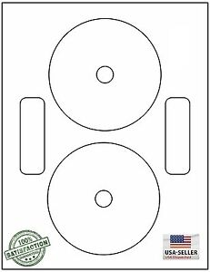 DVDNTF, 200 CD/DVD Labels Neato Compatible Full Face / 100