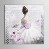 Hand Painted Oil Painting on Canvas Sexy Ballerina Girl ...