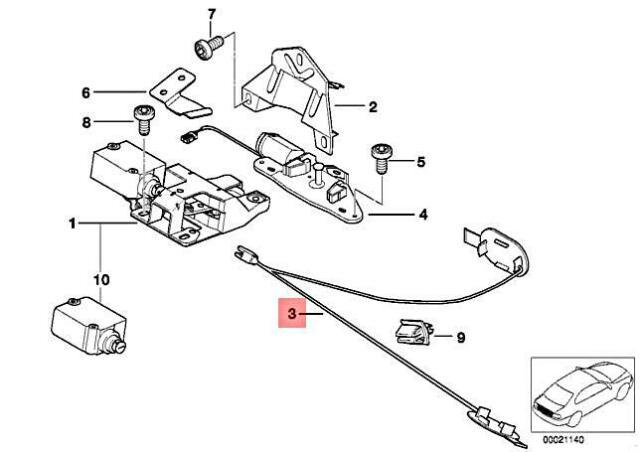 Genuine BMW E39 520d 520i Pulling Strip For Emergency