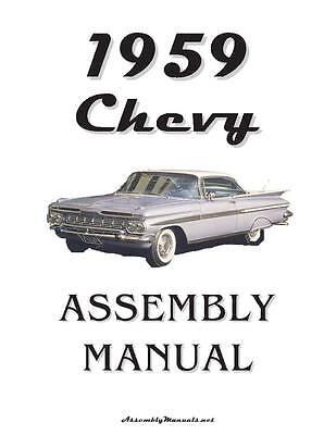 59 Impala Bel Air Chevrolet Factory Assembly Manual Loose