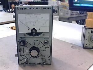 Math Associates Inc S-1800 Fiber Optic Multimeter | eBay