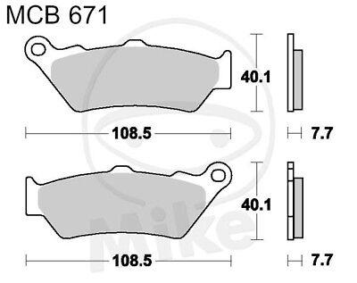 TRW Lucas Brake Pads mcb671 FRONT KTM Adventure 990 lc8