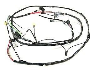 1968 Camaro Headlight Wiring Harness V8 RS & Warning