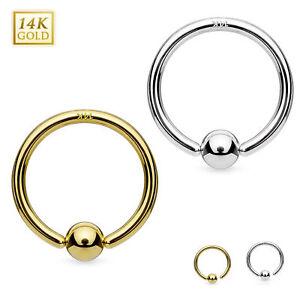 Cartilage Piercing Nasenring Septum Ring Hoop Tragus Helix Gold 585 14 Karat
