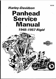 1948-1957 Panhead Harley-Davidson Rigid Service Manual On